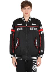 Ktz Embroidered Canvas Pilot Jacket