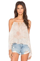 Blue Life Open Shoulder Top Tan