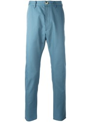 Vivienne Westwood Man Rear Patch Chinos Blue