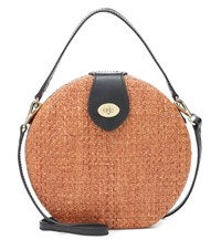 Kayu Wicker Shoulder Bag Brown