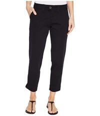 Jag Jeans Creston Ankle Crop In Bay Twill Black Women's Casual Pants