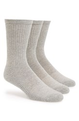 Men's Big And Tall Nordstrom Men's Shop Crew Cut Athletic Socks Grey
