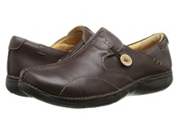 Clarks Un.Loop Dark Brown Leather Women's Slip On Shoes