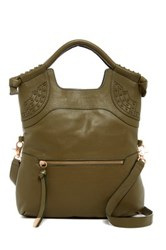 Foley Corinna Stevie Leather Lady Tote Green