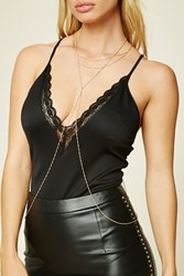Forever 21 Twisted Body Chain Gold