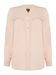 Episode Zip Pocket Shirt Blush