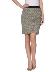 Emma Cook Knee Length Skirts Beige