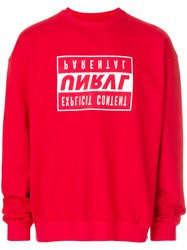 Unravel Project Logo Patch Sweatshirt Red