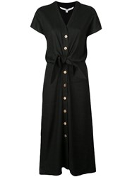 Veronica Beard Knot Detail Shirt Dress Black