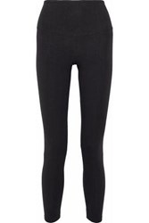 Yummie Tummie Lace Up Stretch Cotton Jersey Leggings Black