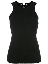 Sacai Ribbed Tank Top Black