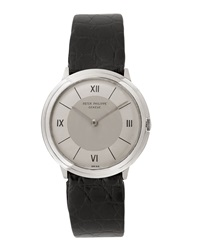 Goodman's Vintage Watches Patek Philippe 18K White Gold Round Dress Watch C. 1950S