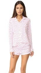 Only Hearts Club Heritage Heart Pj Set White Rosehip