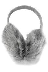 Karl Donoghue Toscana Suede And Faux Fur Earmuffs Gray