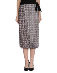 Pianurastudio 3 4 Length Skirts Khaki