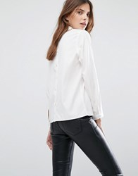 Selected Femme Button Back Shirt Snow White