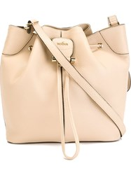 Hogan Drawstring Bucket Bag Nude And Neutrals