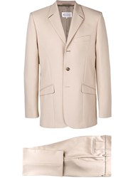 Maison Martin Margiela Classic Two Piece Suit Nude And Neutrals