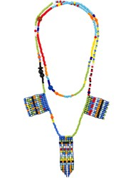 Ports 1961 Beaded Charm Necklace Multicolour