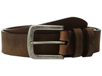Torino Leather Co. 38Mm Distressed Waxed Harness W Antique Nickel Brown Men's Belts