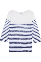 Majestic Striped Merino Wool And Cashmere Blend Top