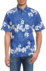 Reyn Spooner 50Th State Button Down Polo Sky