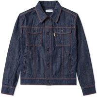 Gosha Rubchinskiy Treated Denim Jacket Blue