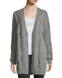 Ag Adriano Goldschmied Sandrine Button Front Oversized Wool Blend Cardigan Gray