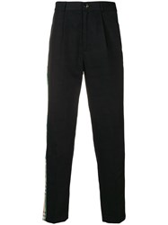 Andrea Crews Plain Chino Trousers Black