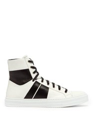 Amiri Sunset Leather High Top Trainers White Black