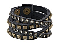 Leather Rock B340 Vintage Black Bracelet