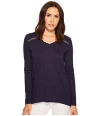 Ariat Alison Top Peacoat Women's Long Sleeve Pullover Blue
