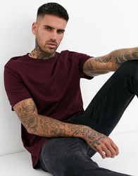 New Look Crew Neck T Shirt In Burgundy Red