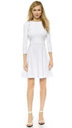 David Lerner Lace Inset Dress Soft White