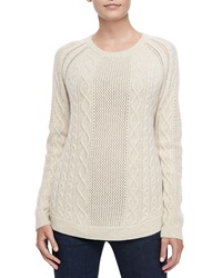 Neiman Marcus Cashmere Ribbed Cable Sweater Small 4