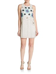 Cynthia Steffe Lola Sequin Embroidered Dress Ivory Multi