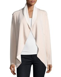 Neiman Marcus Shawl Collar Open Front Jacket Light Brown