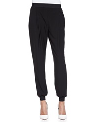 Elie Tahari Presley Pleated Pants Black