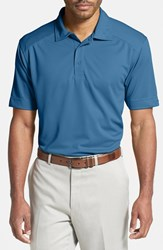 Men's Big And Tall Cutter And Buck 'Genre' Drytec Moisture Wicking Polo Sea Blue
