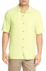 Tommy Bahama Men's Big And Tall 'Rio Fronds' Short Sleeve Silk Sport Shirt Lime Pop