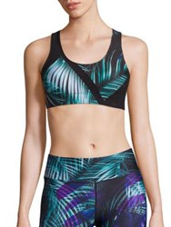 We Are Handsome Palm Print Sports Bra Jaguar Print