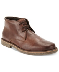 Alfani Lancer Leather Chukka Boots Only At Macy's Men's Shoes Brown Leather