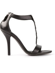 Vic T Bar Sandal Black