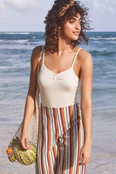 Urban Outfitters Uo Mindy Button Down Cami White