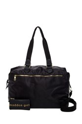 Madden Girl Nylon Weekend Duffle Black