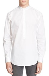 Men's Blk Dnm 'Shirt 8' Extra Trim Fit Band Collar Sport Shirt White
