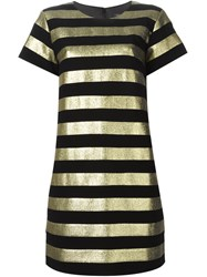 Marc By Marc Jacobs Metallic Stripe Shortsleeved Dress Black
