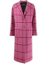 Frankie Morello Gingham Check Patterned Boxy Coat 60