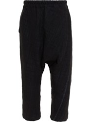 By Walid Long Kit Kat Trousers Black