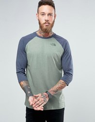 The North Face 3 4 Raglan Sleeve T Shirt Exclusive Ceq1 V1t Green